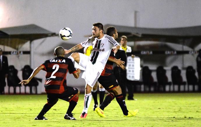 Rafael Sobis, Fluminense X Vitória (Foto: Mauro Akin Nassor / Photocamera)