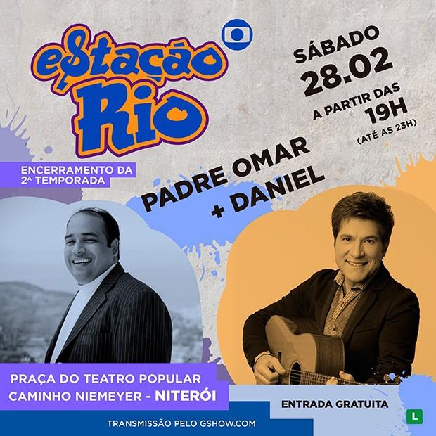 Padre Osmar e Daniel encerram temporada do Estação Rio (Foto: Divulgação)