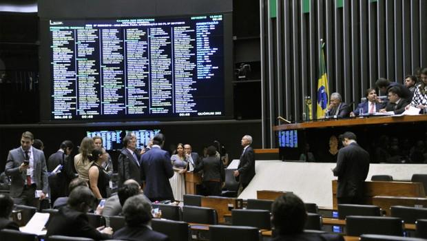 Parlamentares durante Sessão Extraordinária da Câmara do Deputados (Foto: Alex Ferreira/ Câmara dos Deputados)