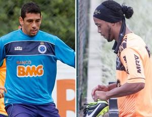 Diego Souza, Ronaldinho Gaúcho, Cruzeiro, Atlético-MG (Foto: Arte / Globoesporte.com)