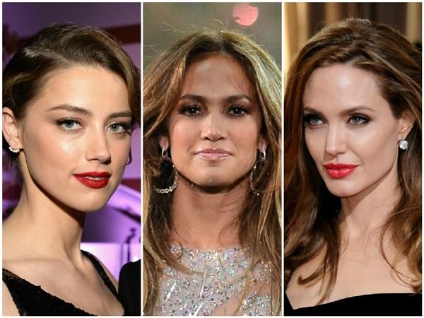 Amber Heard, Jennifer Lopez e Angelina Jolie (Foto: Getty Images)