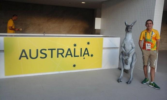 canguru, Austrália, Rio 2016 (Foto: Reprodução / Facebook)