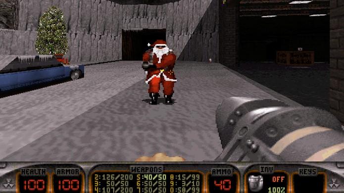 Quem melhor do que Duke Nukem para enfrentar o Papai Noel em Duke: Nuclear Winter? (Foto: Duke Nukem Wiki)