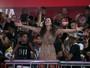 Viviane Araújo recebe elenco de 'Rock Story' na quadra do Salgueiro