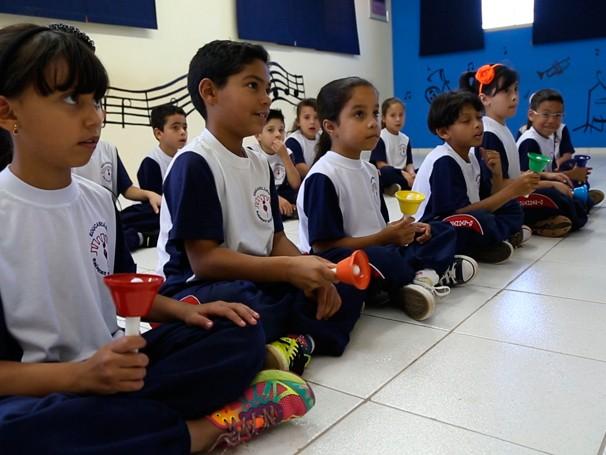 O projeto Musicalizando, de Botucatu, é apoiado pelo Criança Esperança este ano (Foto: Reprodução)