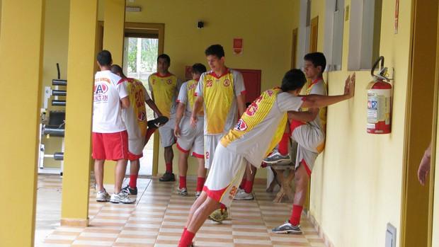 Atlético Sorocaba - treino (Foto: Rafaela Gonçalves / GLOBOESPORTE.COM)