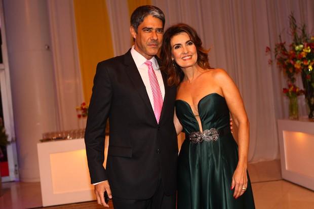 Fatima Bernardes e Willian Bonner em festa da Globo (Foto: Iwi Onodera / EGO)