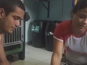 Casal chorou ao ver gato chorando de dor (Foto: Maico Jean/ Reprodução)