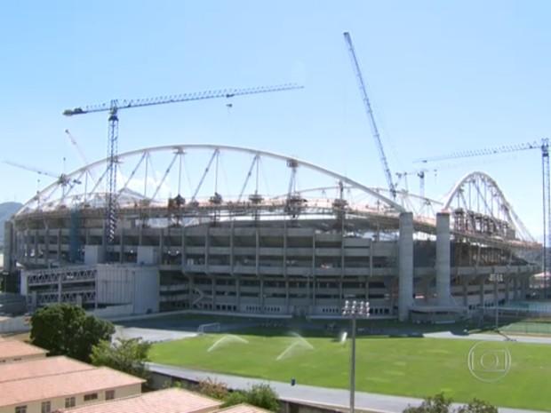 Engenhão deve passar por mais uma reforma para receber as Olimpíadas de 2016 (Foto: Reprodução / TV Globo)