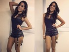 Anitta exibe pernas antes de show na região lagos, no Rio