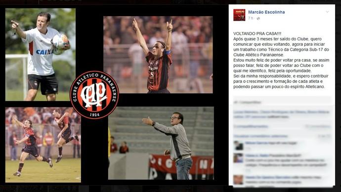 Marcão Sub-17 Atlético-PR (Foto: Reprodução/Facebook)