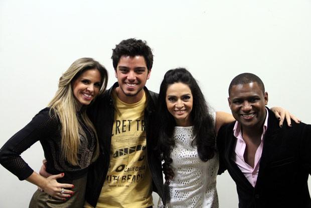 Claudia Ohana e Rodrigo Simas (Foto: TV Globo/Domingão do Faustão)