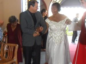 Rosária casou pela segunda vez aos 71 anos (Foto: Irani Lima/ Arquivo Pessoal)