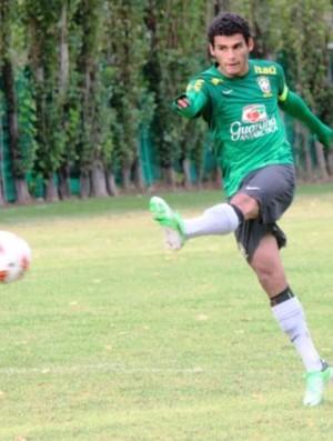 O jogador Thiago Maia treinando na seleção brasileira sub-17 (Foto: Arquivo Pessoal)