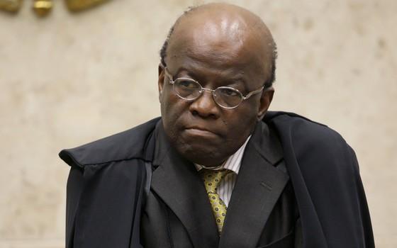 Joaquim Barbosa, o presidente do Supremo Tribunal Federal, durante sessão no início de junho (Foto: Fellipe Sampaio/STF)