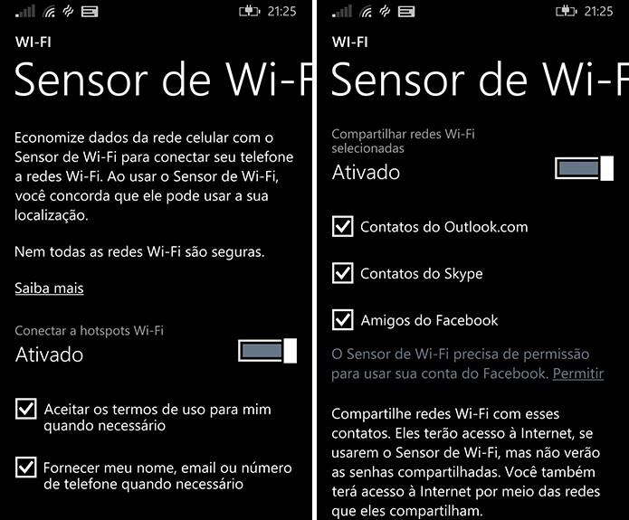 Windows Phone possui Sensor Wi-Fi que promete agilizar conexão à rede públicas (Foto: Reprodução/Elson de Souza)