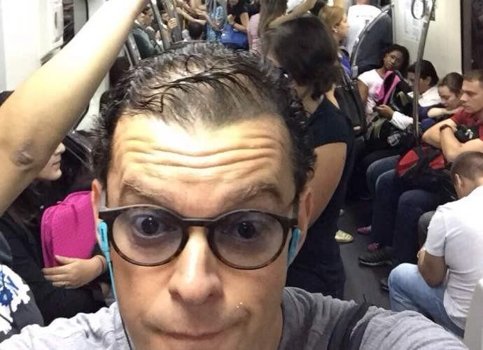 Fernando Rocha tira foto dentro de transporte público na capital paulista (Foto: Arquivo Pessoal)