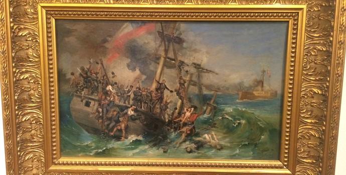 Batalha naval de Iquique, entre peruanos e chilenos, ocorreu no dia 21 de maio, feriado no país que recebe a Copa América  (Foto: Marcelo Hazan)