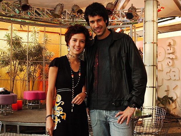 Nos bastidores de Malhação, Marjorie posou ao lado de Daniel Del Sarto (Foto: João Miguel Júnior / TV Globo)
