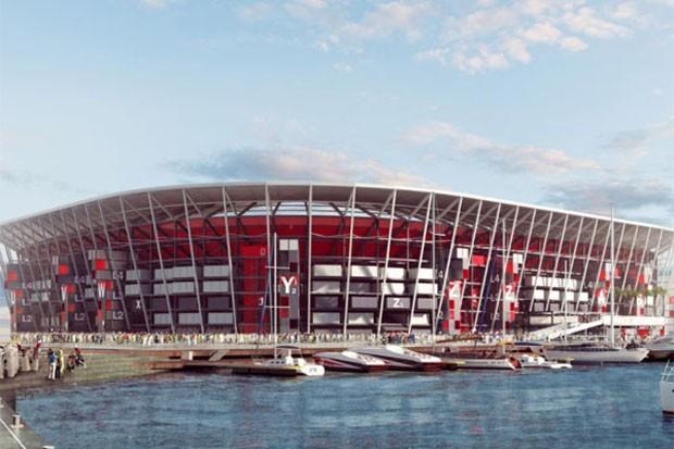 Copa do Mundo de 2022 no Catar terá estádio feito com contêineres  (Foto: Divulgação)