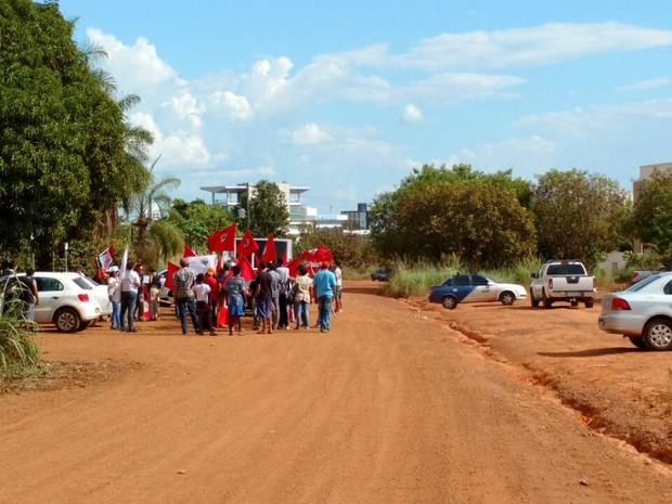 Reintegraçaõ de posse Incra Palmas (Foto: Cyntia Miranda/G1)
