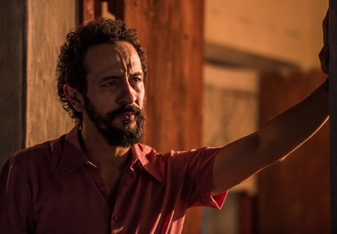 Irandhir Santos na pele de Bento, na segunda fase de 'Velho Chico' (Foto: Caiuá Franco/ Globo)