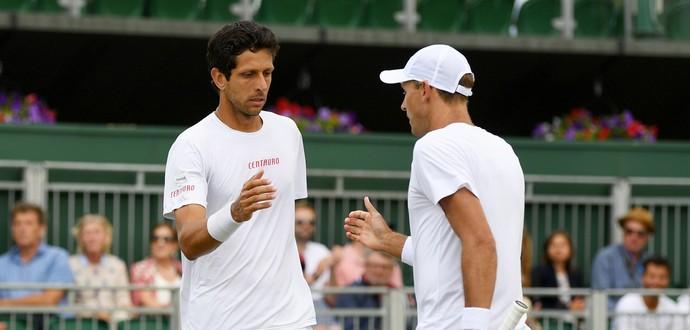 Marcelo Melo e Lukasz Kubot vencem e estão nas semifinais em Wimbledon (Foto: David Ramos / GETTY IMAGES EUROPE / Getty Images/AFP)