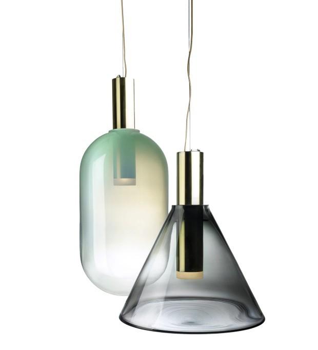 Luminárias da coleção Phenomena, criada pelo Dechem Studio e produzida pela Bomma (Foto: Divulgação)