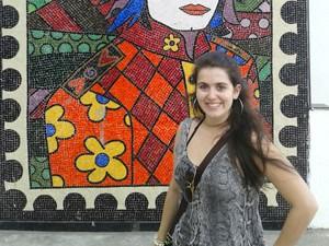 Publicitária Maria Carolina Caiafa em viagem ao Rio de Janeiro. Ela prefere ir de ônibus (Foto: Arquivo Pessoal)