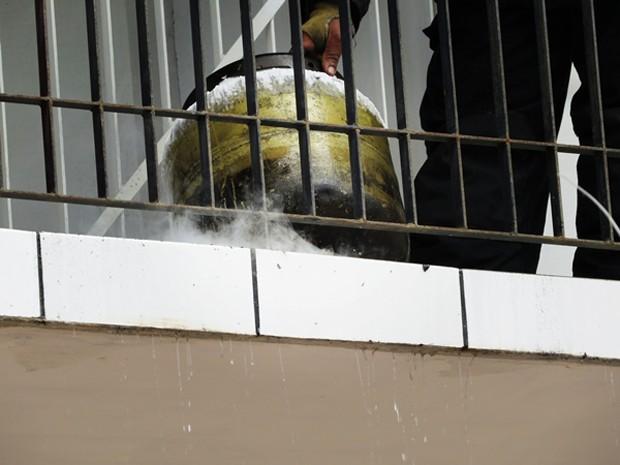Vazamento de botijão provocou incêndio em apartamento (Foto: Daniel Santos/Proparnaiba)