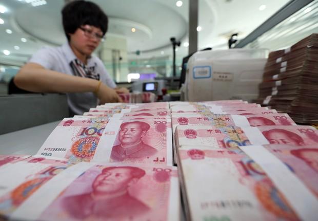 Yuan ; PIB da China ; economia da China ; crescimento da China ; produção industrial chinesa ;  (Foto: Greg Baker/AFP/Getty Images)