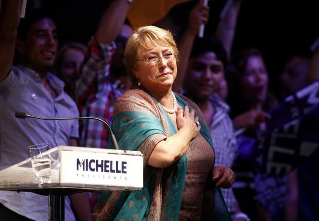 Michelle Bachelet foi reeleita com 62,16% dos votos (Foto: Agência EFE)