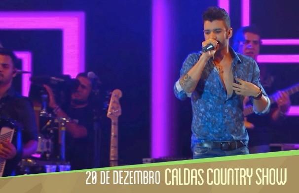 Gusttavo Lima foi uma das atrações do Caldas Country 2014. (Foto: TV Anhanguera)