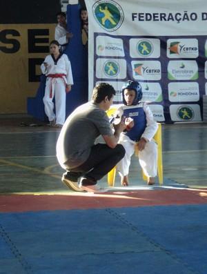 Atletas de Taekwondo na 6º etapa do Campeonato Estadual de Rondônia (Foto: Larissa Vieira)