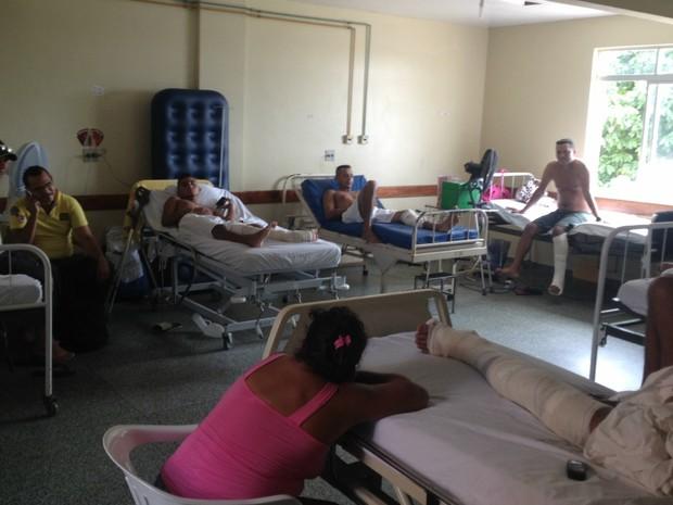 Setor de ortopedia aguarda cirurgias no HCAL, em Macapá (Foto: Abinoan Santiago/G1)