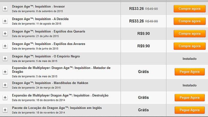 No menu de addons, baixe os pacotes gratuitos com novos conteúdos (Foto: Reprodução/Tais Carvalho)