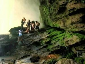 Cachoeiras são atrações no Parque Estadual do Jalapão (Foto: Reprodução/TV Mirante)
