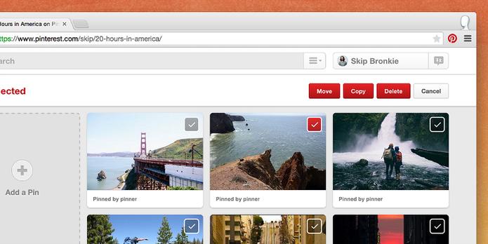 Pinterest faz atualização para facilitar mudança de Pins (Foto: Divulgação Blog Pinterest)