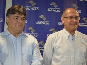 Prefeito de Limeira, Paulo Hadich e governador de São Paulo, Geraldo Alckmin (Foto: Thomaz Fernandes/G1)