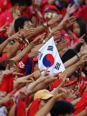Coreia do Sul: desde 2002, um país cada vez mais apaixonado por futebol (Foto: Emmanuel Dunand/AFP)