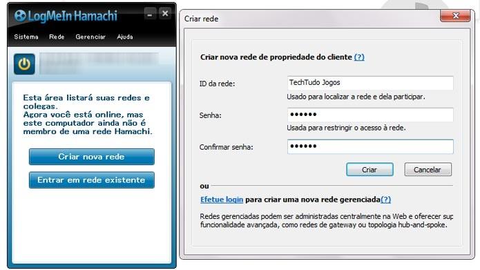 Crie uma nova rede para jogar online em LAN com os amigos (Foto: Reprodução/Tais Carvalho)