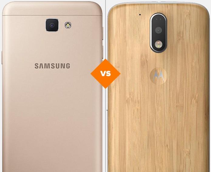 Confira o comparativo entre o Galaxy J7 Prime e o Moto G 4 Plus (Foto: Arte/TechTudo)