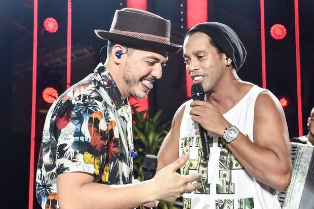 Wesley Safadão e Ronaldinho Gaúcho (Foto: Ederson Lima/Divulgação)