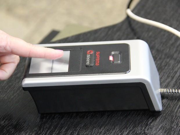 Voto com biometria já vale para as eleições 2016 na capital (Foto: Divulgação/ TRE-ES)