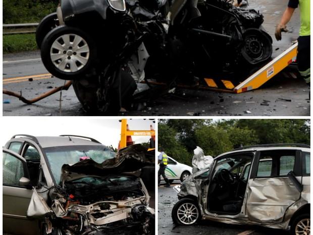 Acidente entre dois carros deixa três mortos em Araraquara (Foto: Fernanda Manécolo/ Tribuna Araraquara)