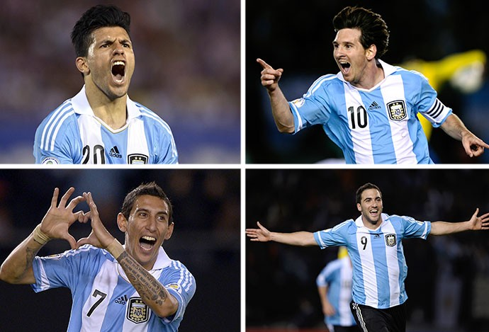 Montagem quarteto Argentina 2014 (Foto: AFP)