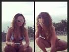 Quarentona, Rita Guedes mostra formas perfeitas em dia de praia