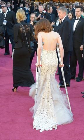 Kristen Stewart no Oscar (Foto: AFP / Agência)