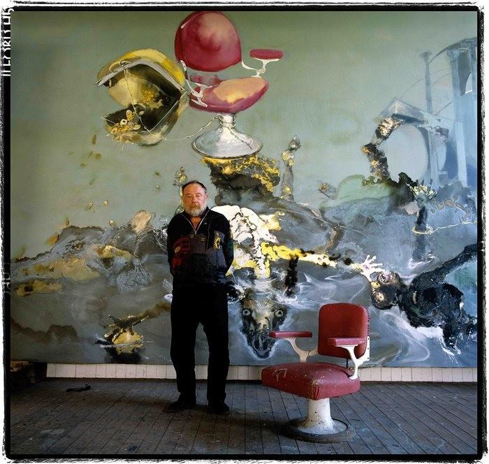 Paul Rebeyrolle em seu estúdio em Boudreville, em 1988. (Foto: Reprodução)