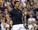 Djokovic perde set, mas bate russo com 'pneu' e pega Wawrinka na semi